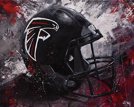 Atlanta Falcons Football Wall Art Falcons Fan Gift by Gray Artus