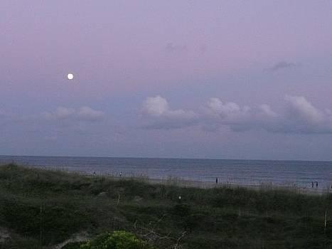 Atlantic Beach NC Moonlilght by Barb Montanye Meseroll