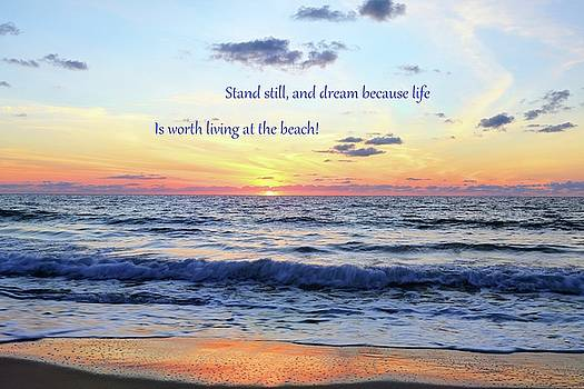 Atlantic Sunrise And Quote by Carol Montoya