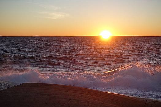 Atlantic Sunset by Heather Vopni