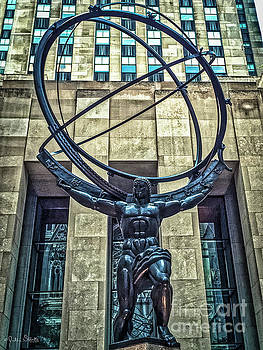Julian Starks - Atlas - Bronze Statue