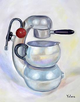 Atomic coffee machine by Yelena Revis