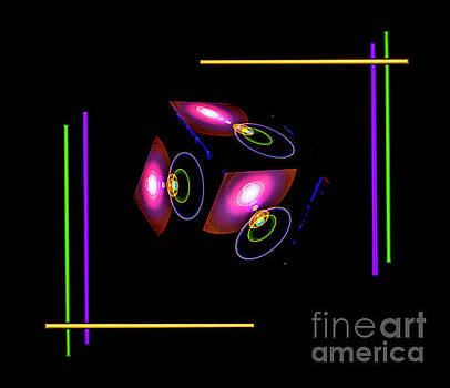 Atrium - Magical  Light and Energy - Cube 2 by Walter Zettl