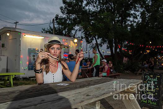 Herronstock Prints - Attractive Austin local eats at an Austin food trailer park