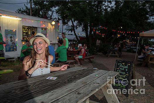 Herronstock Prints - Attractive Austin local eats at an East Austin food truck park a popular Austin phenomenon