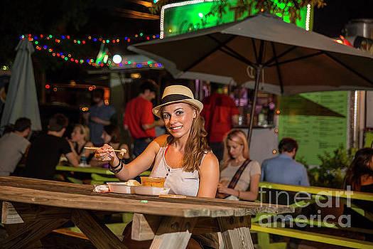 Herronstock Prints - Attractive Austin local eats at an East Austin food truck trailer park