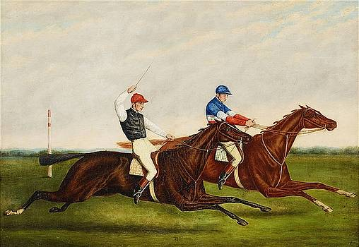 attributed to Horses galloping by Harry Hall
