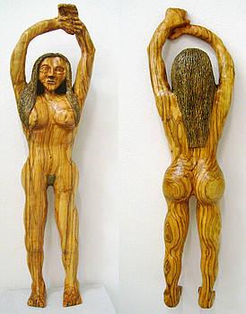 Au Naturelle  Olive wood sculpture by Eric Kempson
