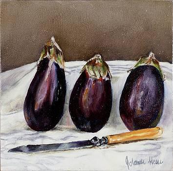 Aubergines by Jolante Hesse