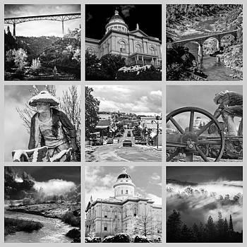 Auburn Collage Black and White by Sherri Meyer