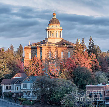 Auburn Courthouse after a storm by Mark Chandler