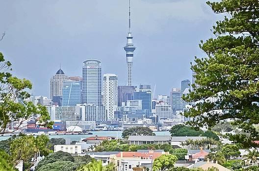 Auckland City C B D by Clive Littin