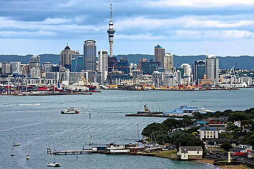 Auckland Cityscape by Sally Weigand