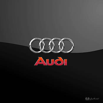 Serge Averbukh - Audi 3 D Badge on Black