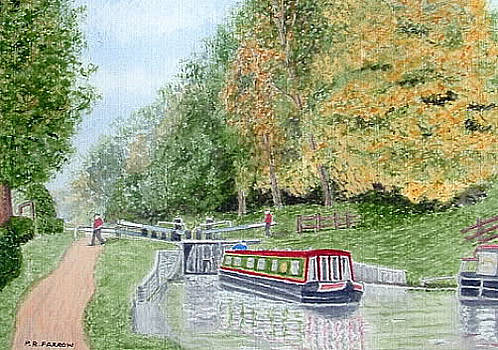 Audlem Lock, Shropshire Union Canal by Peter Farrow