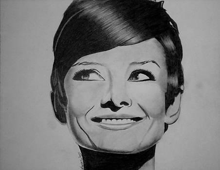 Audrey Hepburn Drawing by Keeyonardo
