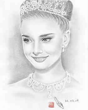Audrey Hepburn by Eliza Lo