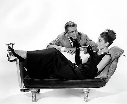 Audrey Hepburn Holly Golightly BREAKFAST AT TIFFANYS  by R Muirhead Art