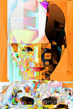 Wingsdomain Art and Photography - Audrey Hepburn in Abstract Cubism 20170406