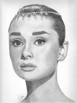Audrey Hepburn by Karen Townsend