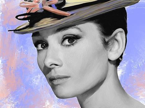Audrey Hepburn Portrait Study by Brian Tones