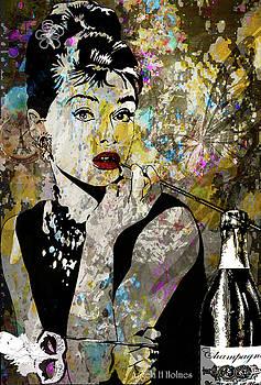 Audrey Hepburn Tribute  by Angela Holmes
