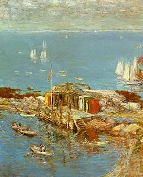 August Afternoon Appledore by Hassam Childe
