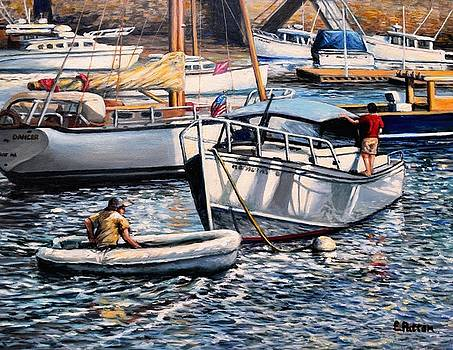August Afternoon Rocky Neck by Eileen Patten Oliver