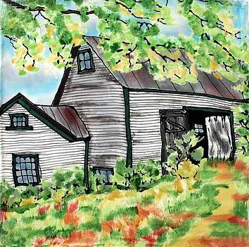 August Barn by Linda Marcille