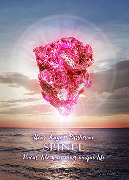 August Birthstone Spinel by Evie Cook