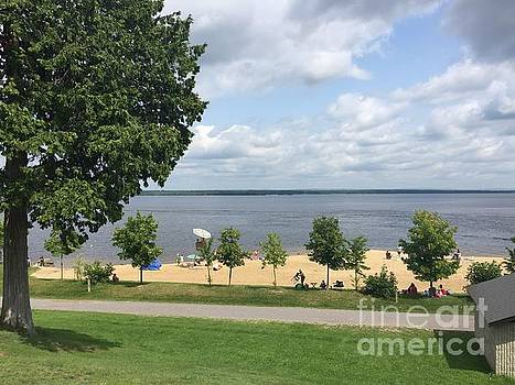 August Day at the Beach - Arnprior Beach by Barbara Griffin