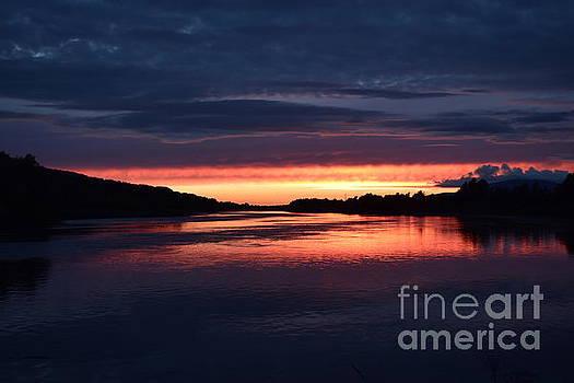 August sunset by Joe Cashin