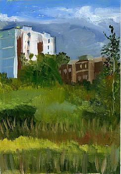 August. Yauza Embankment. by Lelia Sorokina