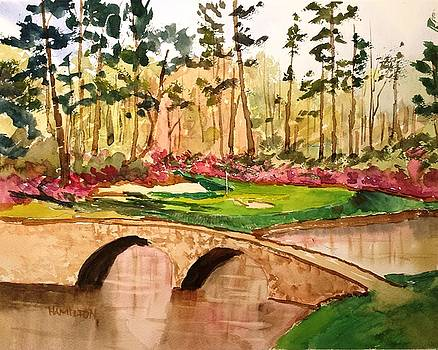 Augusta - 12th Hole by Larry Hamilton