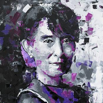 Aung San Suu Kyi by Richard Day