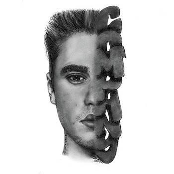 Justin Bieber Drawing By Sofia Furniel by Jul V