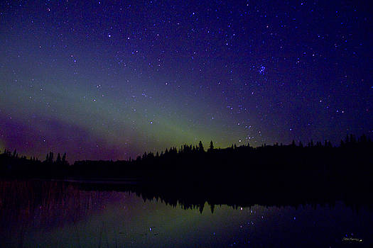 Aurora at Piprell Lake  by Andrea Lawrence