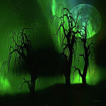 Aurora Borealis Lights - Painting by Ericamaxine Price