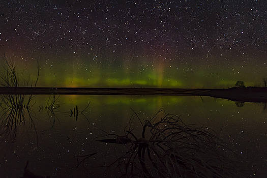 Aurora On The Water by Justin Schmidt