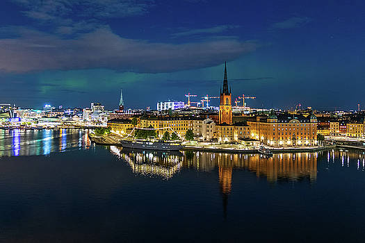 Dejan Kostic - Aurora over Stockholm in the Fall 2018