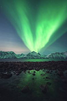 Aurora Rocks by Tor-Ivar Naess