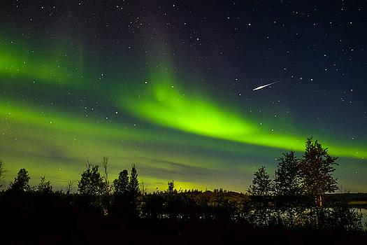 John McArthur - Aurora with Meteor