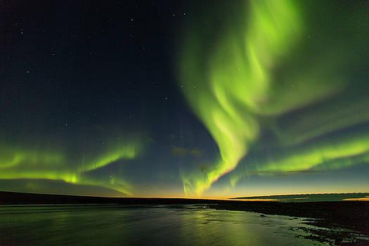 Tim Grams - Auroras at Sunset