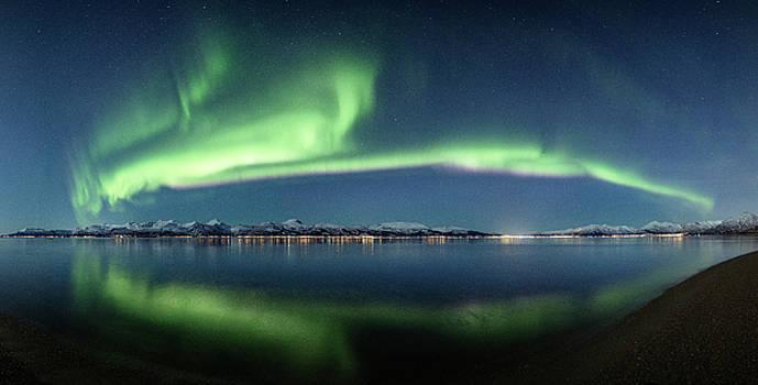 Auroras over Langoya island by Frank Olsen