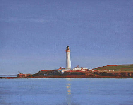 Auskerry Lighthouse Orkney by Charles Pompilius