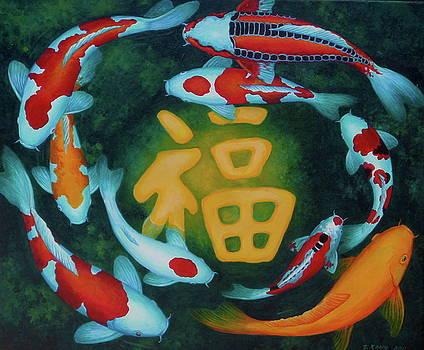 Edoen Kang - Auspicious Koi Pond 8