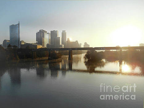 Felipe Adan Lerma - Austin Hike And Bike Trail - Pfluger Pedestrian Bridge - Fog Lifting Soft