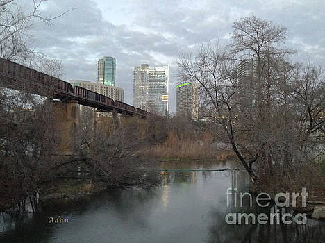 Felipe Adan Lerma - Austin Hike And Bike Trail - Winter Train Trestle