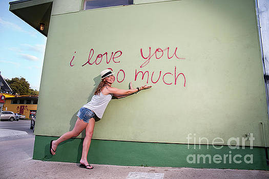 Herronstock Prints - Austin is home to some amazing street art and muralsI love you so much mural is the most popular