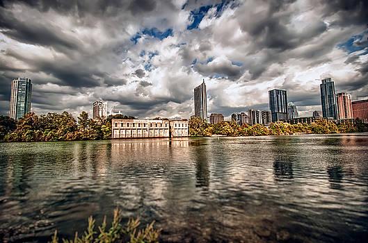 Austin Skyline on Lady Bird Lake by John Maffei